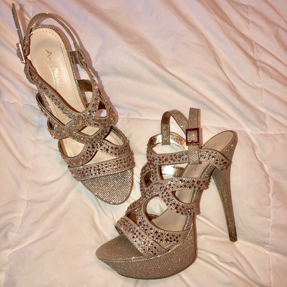 Anne Michelle Shoes - Anne Michelle Sparkly Heels